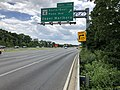 2019-05-27 13 41 38 View south along the inner loop of the Capital Beltway (Interstate 95 and Interstate 495) at Exit 11A (Maryland State Route 4 South-Pennsylvania Avenue East, Upper Marlboro) along the edge of Forestville and Westphalia in Maryland.jpg