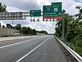 2019-06-20 12 43 23 View south along Interstate 895 (Baltimore Harbor Tunnel Thruway) at Exit 6 (SOUTH Interstate 97, SOUTH Maryland State Route 2, Annapolis, Glen Burnie) in Brooklyn Park, Anne Arundel County, Maryland.jpg