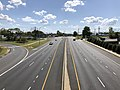 2019-08-25 15 26 11 View west along U.S. Route 40 (Pulaski Highway) from the overpass for Interstate 695 (Baltimore Beltway) in Rosedale, Baltimore County, Maryland.jpg