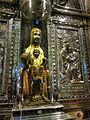 223 Basílica de Montserrat, imatge de la Mare de Déu, a la cambra del tron.JPG