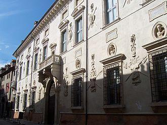Palazzo Bevilacqua-Costabili, Ferrara - Facade of Palace.