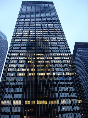 Manufacturers Hanover Corporation - Former Manufacturers Hanover corporate offices at 270 Park Avenue, today the headquarters of JPMorgan Chase