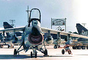 354th Tactical Fighter Wing A-7D Corsair IIs arrival at Korat RTAFB Thailand