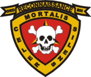"3rd Reconnaissance Battalion - 3rd Reconnaissance Battalion insignia ""Swift - Silent - Deadly"""