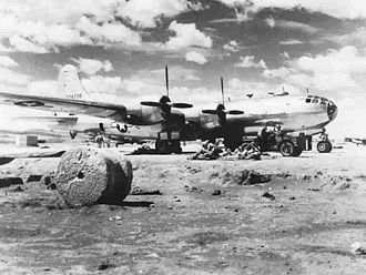 58th Air Division - B-29 on an unfinished airfield in China, 1944
