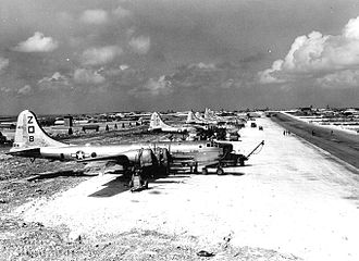 499th Air Refueling Wing - 499th Bomb Group B-29s on Isely Field Saipan, 1949