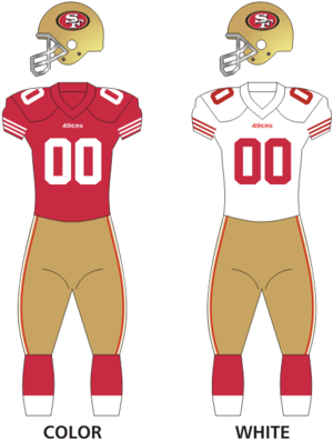 2017 San Francisco 49ers season - Image: 49ers uniforms 12