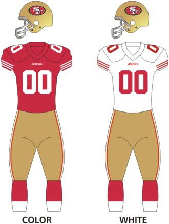 2013 San Francisco 49ers season - Image: 49ers uniforms 12