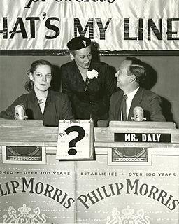 5058 Original 1952 Promotional Photo 'Whats My Line' John Daly, Faye Emerson & Guest