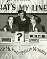 5058 Original 1952 Promotional Photo 'Whats My Line' John Daly, Faye Emerson & Guest.jpg