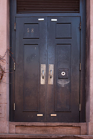 58 Joralemon Street - The door to 58 Joralemon