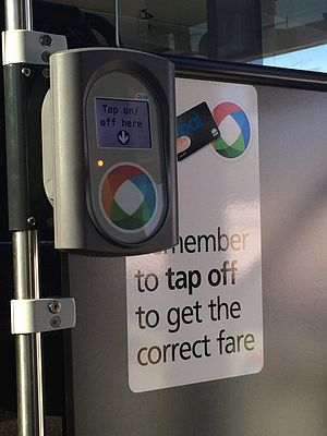 Opal card - Opal reader installed on a bus