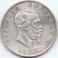 5 Lire del Regno d'Italia - 1872 02.jpg