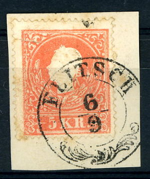 Bovec - Austrian stamp cancelled around 1860