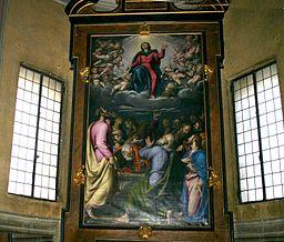 7370 - Milano - S. Maria della Passione - Simone Peterzano - Assunzione della Vergine (1580) - Foto Giovanni Dall'Orto, 26-Feb-2008