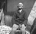 90 letni Tomaž Kavs, Soča 87 (Vrsnik), na Logu - Soča 1952.jpg
