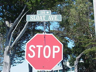 John D. Sloat - Sloat Ave. in Monterey, California.