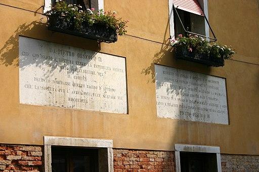 9765 - Venezia - Bacino Orseolo - Lapidi per Pietro Orseolo II (1869) - Foto Giovanni Dall'Orto, 12-Aug-2007