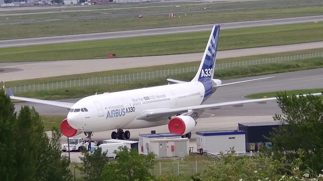 A330 prototype being towed to a parking spot.