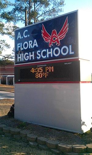 A.C. Flora High School - Entrance sign