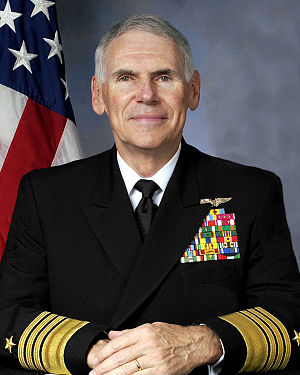 English: Admiral William J. Fallon, USN, Comma...