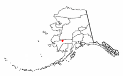 Location of Aniak, Alaska