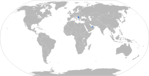 ALAS (missile) - Map with ALAS operators in blue