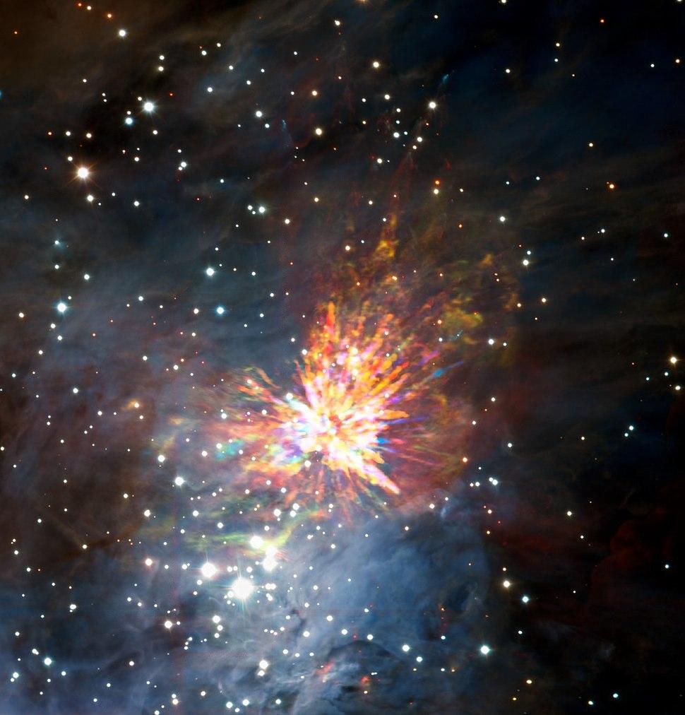 ALMA views a stellar explosion in Orion