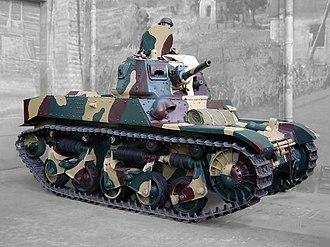 AMC 35 - ACG1, displayed at the Musée des Blindés, Saumur, France.