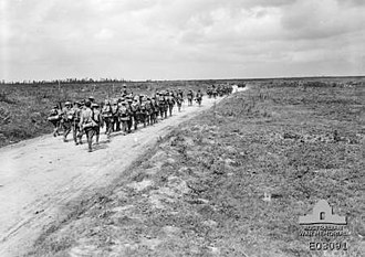 26th Battalion (Australia) - Troops from the 26th Battalion in Picardie, Somme, August 1918