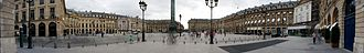 Place Vendôme - Panoramic view of Place Vendôme