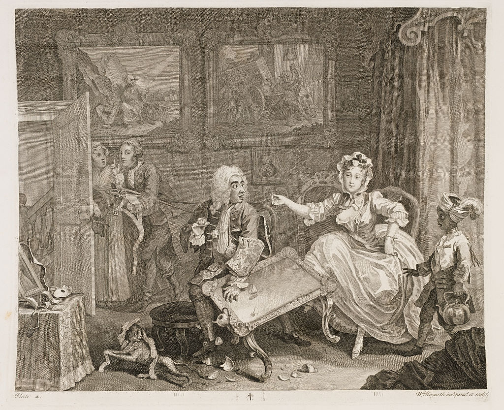A Harlot's Progress, Plate 2