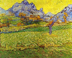 A Meadow in the Mountains: Le Mas de Saint-Paul - Image: A Meadow in the Mountains Le Mas de Saint Paul 1889 Vincent van Gogh