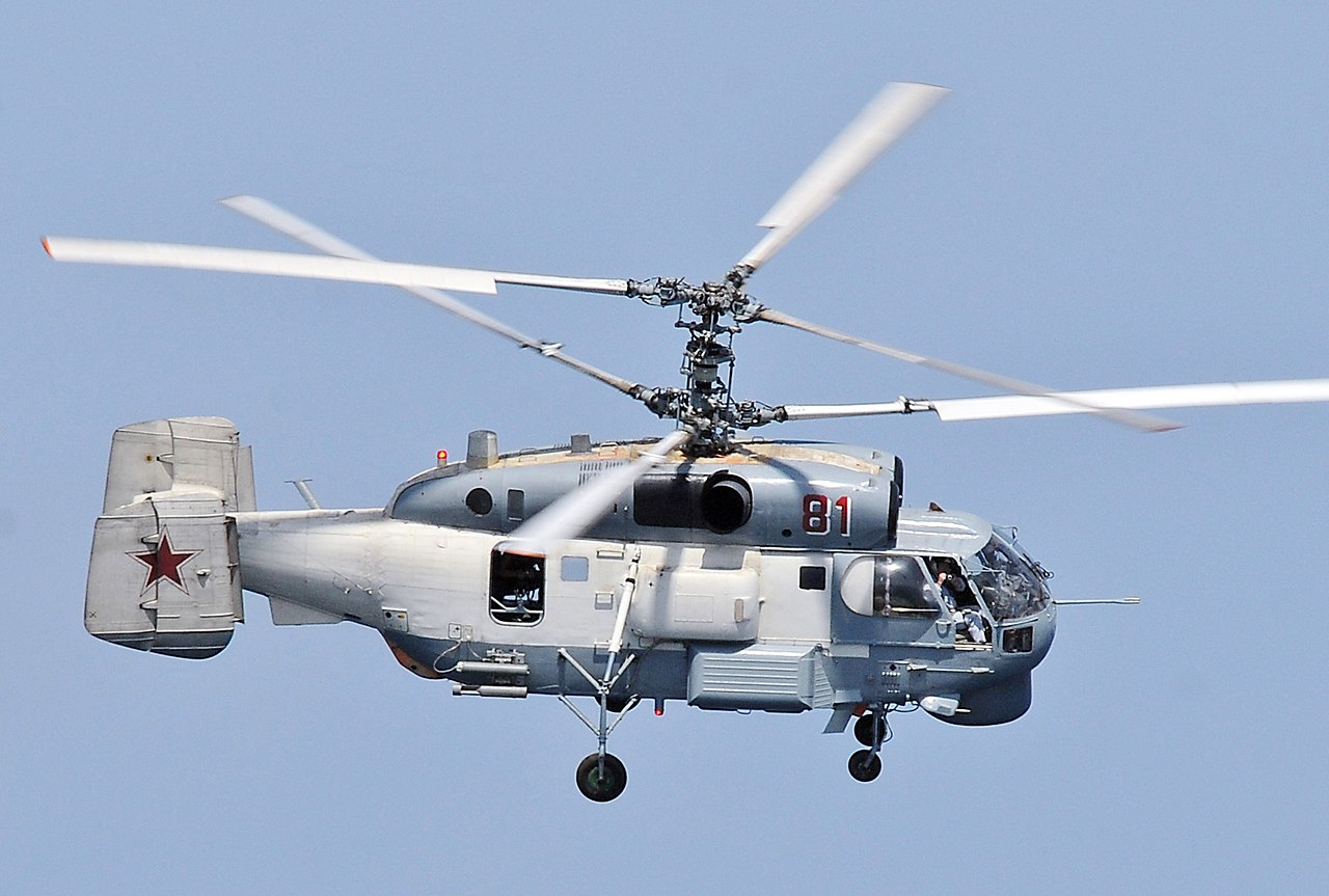 روميو في سماء البحار – المروحية MH-60R Seahawk 1280px-A_Russian_Helix_KA-27_%28cropped%29