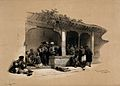 A coffee-shop, Cairo, Egypt. Coloured lithograph by Louis Ha Wellcome V0049392.jpg