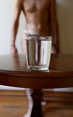A glass of water 2 - Photo by Giovanni Dall'Orto, August 6 2015