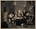 A group of physicians having stormy discussions in an elabor Wellcome V0016031.jpg