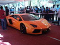 A lamborghini aventador at the autoshoow at anna university, chennai.JPG