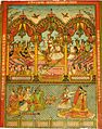 A modern matchbox-cover version of the disrobing of Draupadi (c.1900-20).jpg