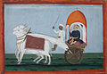 A noble in a bullock cart with canopy (6124604475).jpg