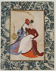 A Couple in Amorous Embrace