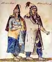 Abenakis in peace, 18th century water color now in Montreal.