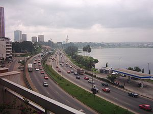 African French - Motorway in the centre of Abidjan