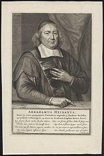 Abraham Heidanus Dutch Calvinist minister