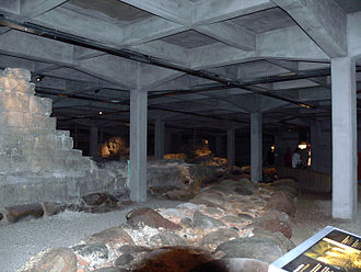 Christiansborg Palace - The underground excavations with the ruins of Absalon's Castle
