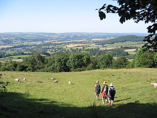 Abstieg vom Hay Bluff nach Hay on Wye