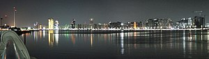 Abu Dhabi - Image: Abu Dhabi Night Skyline Panorama