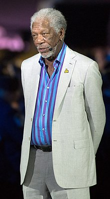 Academy Award-winning actor Morgan Freeman narrates for the opening ceremony (26904746425) (cropped) 2.jpg