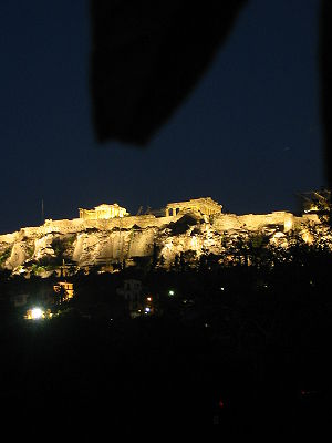 Acropolis at night (Athens)