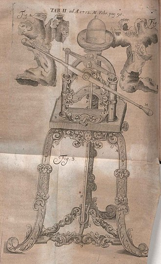 Johann Bernoulli - Illustration from De motu corporum gravium published in Acta Eruditorum, 1713